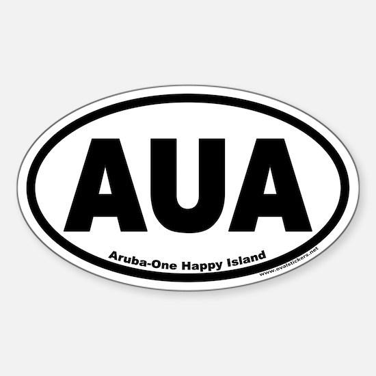 Aruba AUA Euro Oval Sticker (One Happy Island)