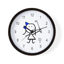 Girl & Golf Wall Clock