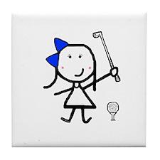 Girl & Golf Tile Coaster