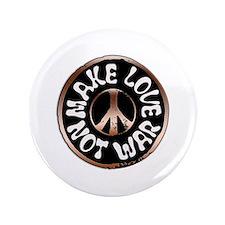 """Make Love Not War 3.5"""" Button"""