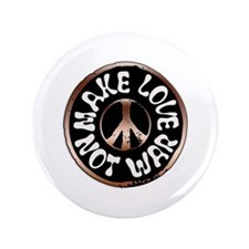 """Make Love Not War 3.5"""" Button (100 pack)"""