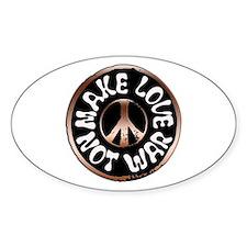 Make Love Not War Oval Decal