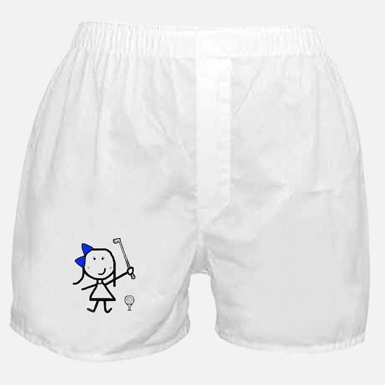 Girl & Golf Boxer Shorts