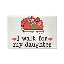 Breast Cancer Walk Daughter Rectangle Magnet