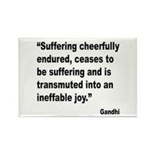 Gandhi Suffering Quote Rectangle Magnet (10 pack)