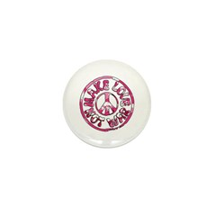 Make Love Not War Mini Button (100 pack)