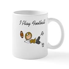 Gold I Play Football Mug