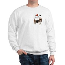 I Love My Basset Hound Sweatshirt