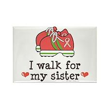 Breast Cancer Walk Sister Rectangle Magnet
