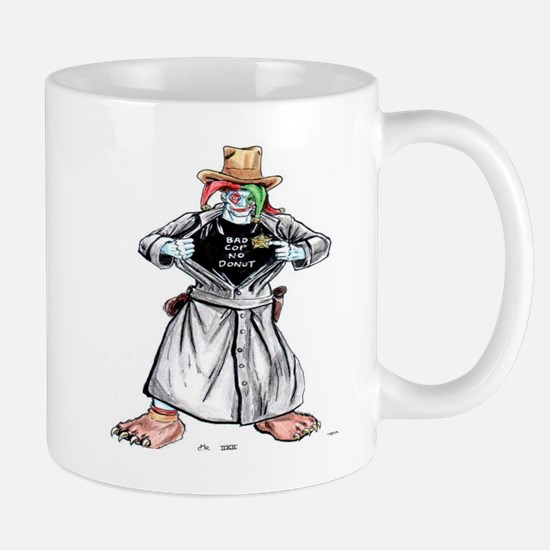 Bad Jester Cop Artwork on Mug