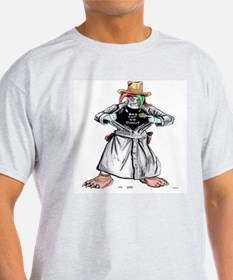 Bad Jester Cop Artwork on T-Shirt