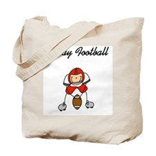 Red I Play Football Tote Bag