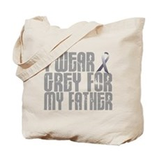 I Wear Grey For My Father 16 Tote Bag
