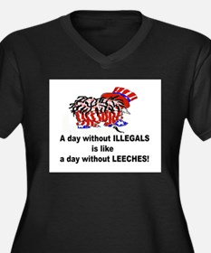A day without illegals is lik Women's Plus Size V-