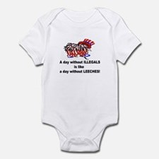 A day without illegals is lik Infant Bodysuit