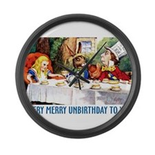 A Very Merry Unbirthday! Large Wall Clock