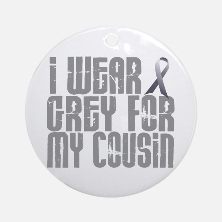 I Wear Grey For My Cousin 16 Ornament (Round)