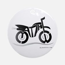 Matthew Black Bike Ornament (Round)