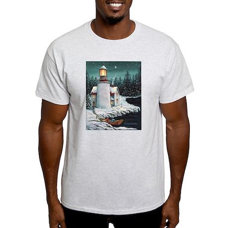 Christmas Lighthouse Light T-Shirt