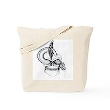 Tattoo Skull and Dragon Tote Bag