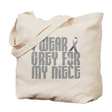I Wear Grey For My Niece 16 Tote Bag