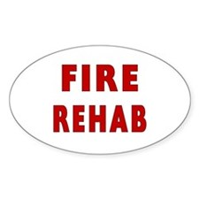 Fire Rehab Oval Decal