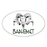 BAPHOMET SKULL Sticker (Oval)