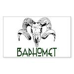 BAPHOMET SKULL Sticker (Rectangle)