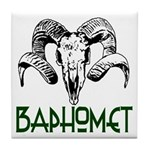 BAPHOMET SKULL Tile Coaster