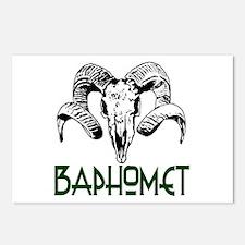 BAPHOMET SKULL Postcards (Package of 8)