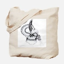 gothic Skull and dragon Tote Bag