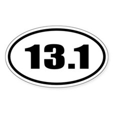 13.1 Half Marathon Oval Decal