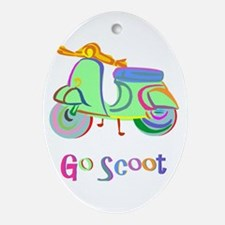Go Scoot! Oval Ornament