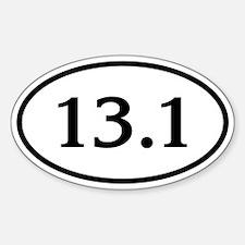 13.1 Half Marathon Oval Decal