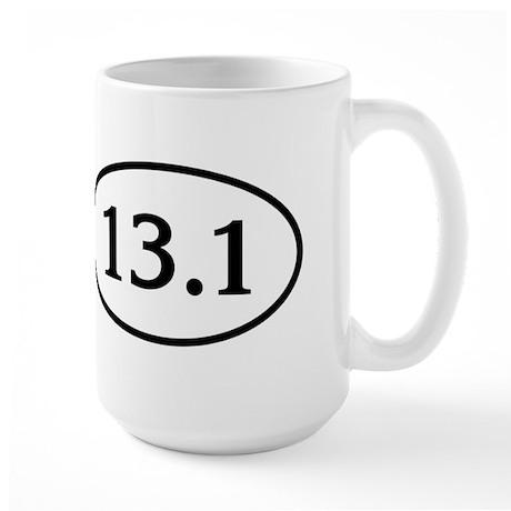 13.1 Half Marathon Oval Large Mug