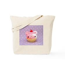 Amigurumi Berry Swirl Cupcake Bear Tote Bag