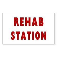 Fire Rehab Station Rectangle Sticker 10 pk)