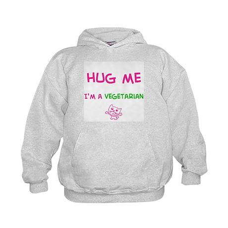 Hug Me-Vegetarian (Kids Hoodie)
