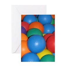 Balls of Every Color Greeting Card