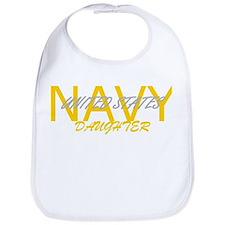 Cool Navy daughter Bib