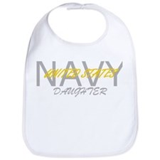 Funny Navy daughter Bib
