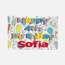 Sofia's 4th Birthday Rectangle Magnet