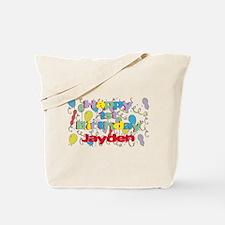 Jayden's 1st Birthday Tote Bag