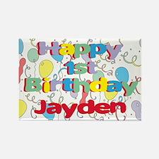 Jayden's 1st Birthday Rectangle Magnet