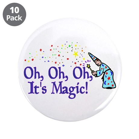 "It's Magic 3.5"" Button (10 pack)"