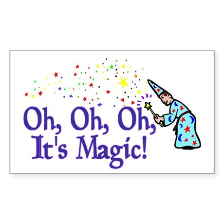 It's Magic Rectangle Sticker 50 pk)