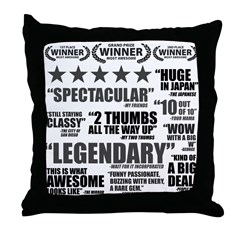 Critics Throw Pillow