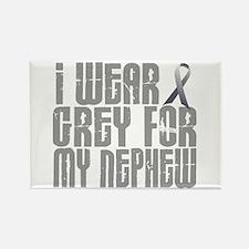 I Wear Grey For My Nephew 16 Rectangle Magnet