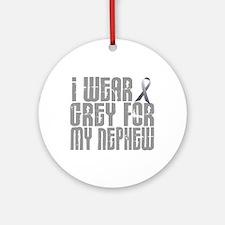 I Wear Grey For My Nephew 16 Ornament (Round)
