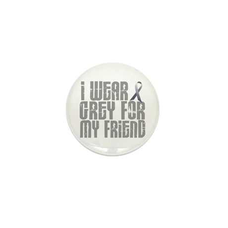 I Wear Grey For My Friend 16 Mini Button (10 pack)